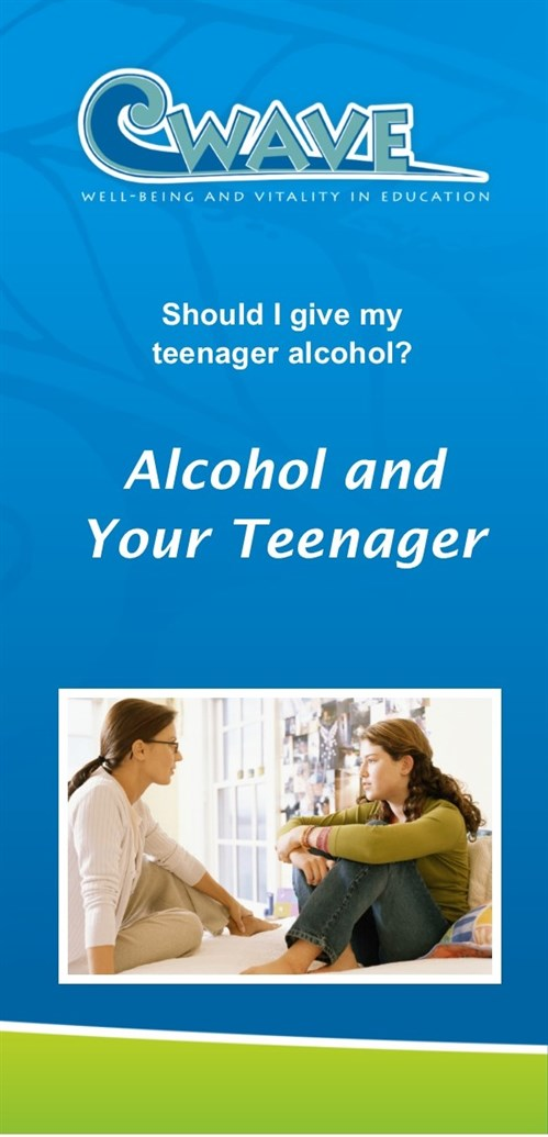 Alcohol and your teenger cover